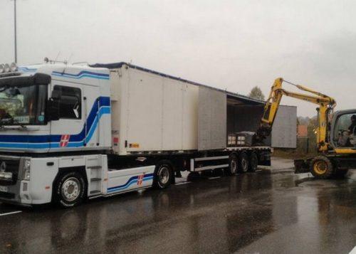 camion fond mouvant, transporteur vrac