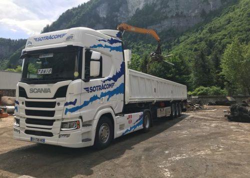 camion transport de vrac, transport haute-savoie
