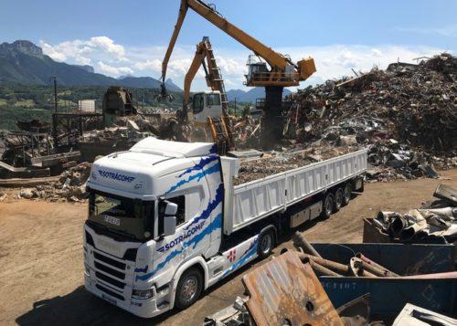 transport de vrac, camion fond mouvant
