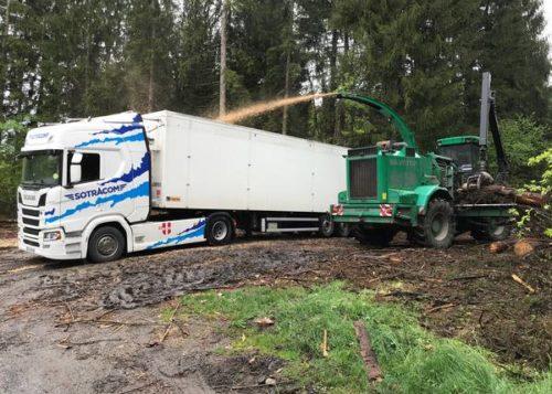 transport copeaux de bois 74